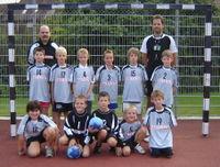 U11-Mannschaft mit Trainern Dominik Baer und Torsten Huber